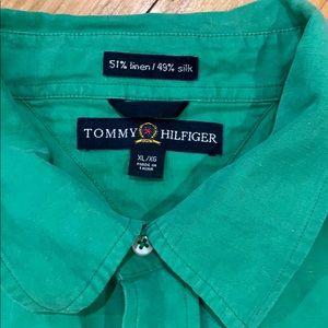 Tommy Hilfiger Shirts - 2005 Tommy Hilfiger Linen/Silk SS Button up